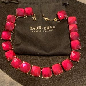Bauble bar pink necklace